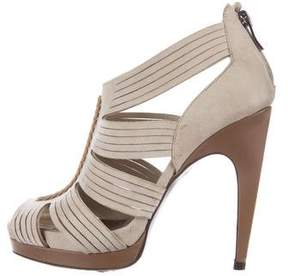 Barbara Bui Suede Caged Sandals