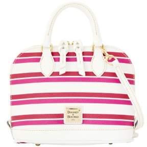 Dooney & Bourke Stonington Bitsy Bag - MAGENTA ORCHID WHITE - STYLE