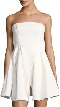 C/Meo Flawless Strapless Fit & Flare Dress