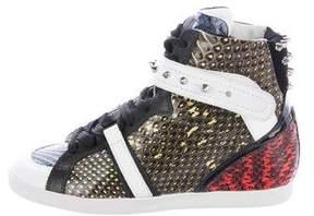 Barbara Bui Snakeskin High-Top Sneakers