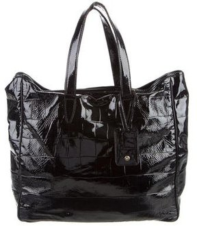 Saint Laurent Embossed Leather Tote - ANIMAL PRINT - STYLE