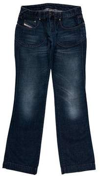 Diesel Low-Rise Wide-Leg Jeans