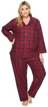 BedHead Plus Size Long Sleeve Classic Pajama Set Women's Pajama Sets