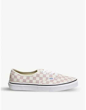 Vans Authentic checkerboard-print canvas trainers