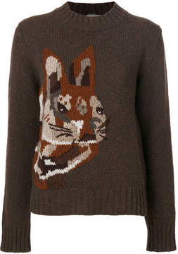 Mulberry bunny intarsia jumper