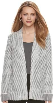Elle Women's ElleTM Textured Open-Front Cardigan
