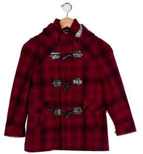 John Galliano Boys' Wool Plaid Coat