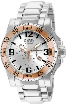 Invicta Excursion Reserve Mens Stainless Steel Chronograph Watch 14041