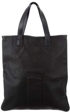 Saint Laurent Leather-Trimmed Logo Tote