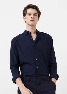 Mango Outlet Slim-fit flannel shirt