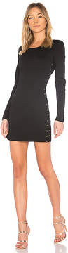 Bobi BLACK Matte Knit Lace Up Dress