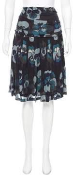 Dries Van Noten Printed Silk Skirt