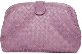 Bottega Veneta Purple Intrecciato Lauren 1980 Clutch