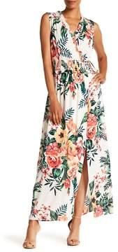 ECI Sleeveless Ruffle Trim Maxi Dress