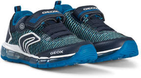 Geox Navy Android Velcro Light Up Trainers