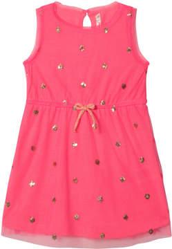 Billieblush Pink Sequin Spot Tulle Dress
