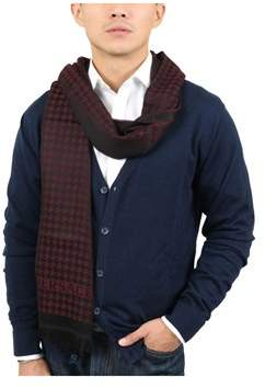 Versace It00631 Bordo Burgundy 100% Wool Mens Scarf.