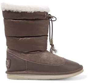 Australia Luxe Collective Earth Short Paneled Shearling And Quilted Shell Boots