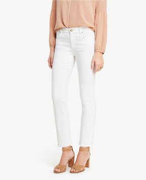 Ann Taylor Tall Frayed Crop Jeans