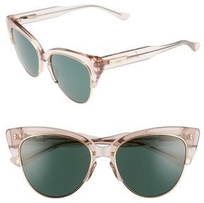 Sonix Women's Dafni 56Mm Gradient Cat Eye Sunglasses - Mauve Clear/ Olive