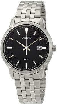 Seiko Neo Classic Diamond Black Dial Men's Watch