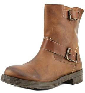 Coolway Mc-27 Women Round Toe Leather Brown Ankle Boot.