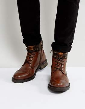 Tommy Hilfiger Curtis Leather Boots in Brown