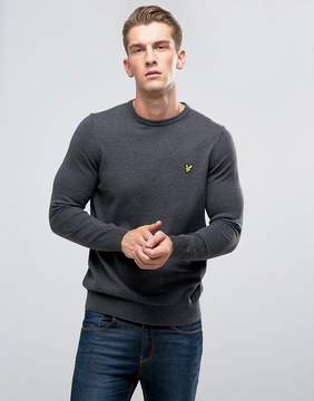 Lyle & Scott Merino Mix Sweater Charcoal