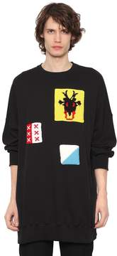 J.W.Anderson Oversized Jersey Sweatshirt W/ Patches