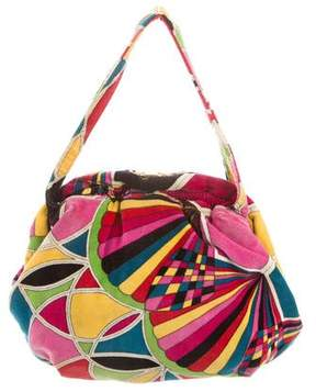 Emilio Pucci Multicolored Velvet Handbag