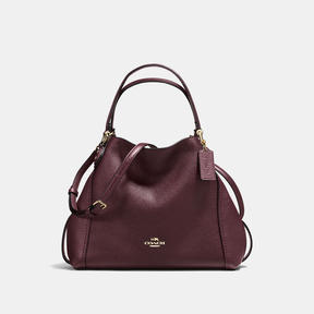 COACH Coach Edie Shoulder Bag 28 - LIGHT GOLD/OXBLOOD - STYLE