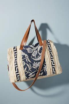 Anthropologie Iman Embellished Weekender Bag