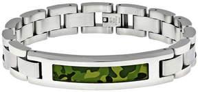Lynx Stainless Steel Camouflage Bracelet - Men