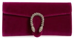 Gucci Dionysus Velvet Clutch - Purple - BLUE - STYLE