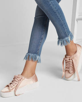 Express Satin Platform Sneakers
