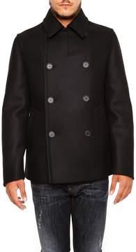 Prada Linea Rossa Double Wool Cloth Pea Coat