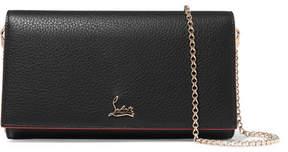 Christian Louboutin Boudoir Textured-leather Shoulder Bag - Black