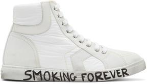 Saint Laurent White Antibe High-Top Sneakers