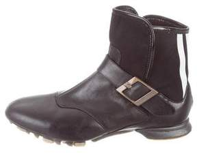 Y-3 Leather Ankle Boots
