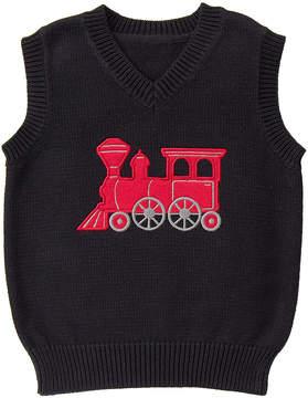 Gymboree Black Train Sweater Vest - Infant & Toddler