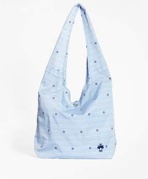 Brooks Brothers Pinwheel Seersucker Shopper Bag