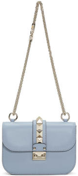 Valentino Blue Garavani Small Rockstud Lock Bag