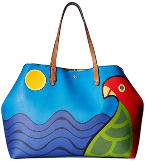 Tory Burch Kerrington Parrot Square Tote Tote Handbags - KERRINGTON PARROT BIG - STYLE