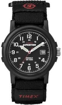 Timex Mens Black Analog Camper Watch
