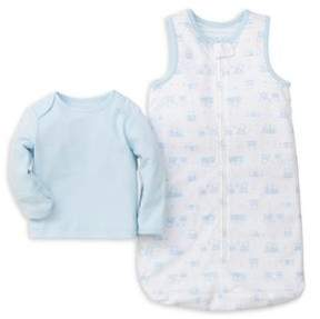 Little Me Baby Boy's Two-Piece Tee and Printed Sleeping Bag Cotton Set