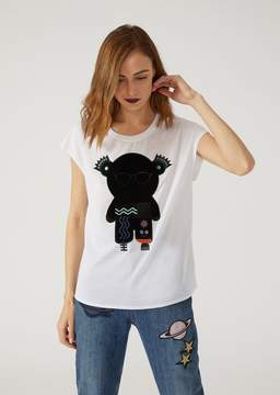 Emporio Armani T-Shirt With Manga Bear Patch