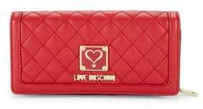Love Moschino Quilted Continental Wallet