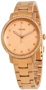 Fossil Neely Rose Gold Dial Crystal Ladies Watch