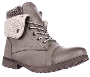 Rock & Candy Spraypaint Foldover Ankle Boots, Taupe.