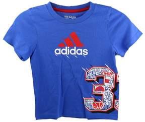 adidas Kids 4-7x 33 Wrap Tee - Blue - Boys - 7